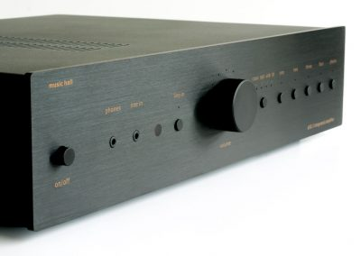 music hall a30.3 integrated amplifier 3/4 view