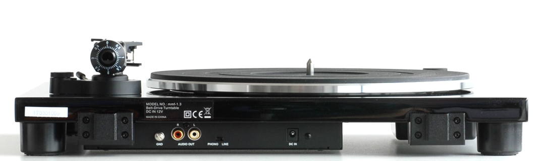 music hall mmf-1.3 turntable with cartridge and phono preamp