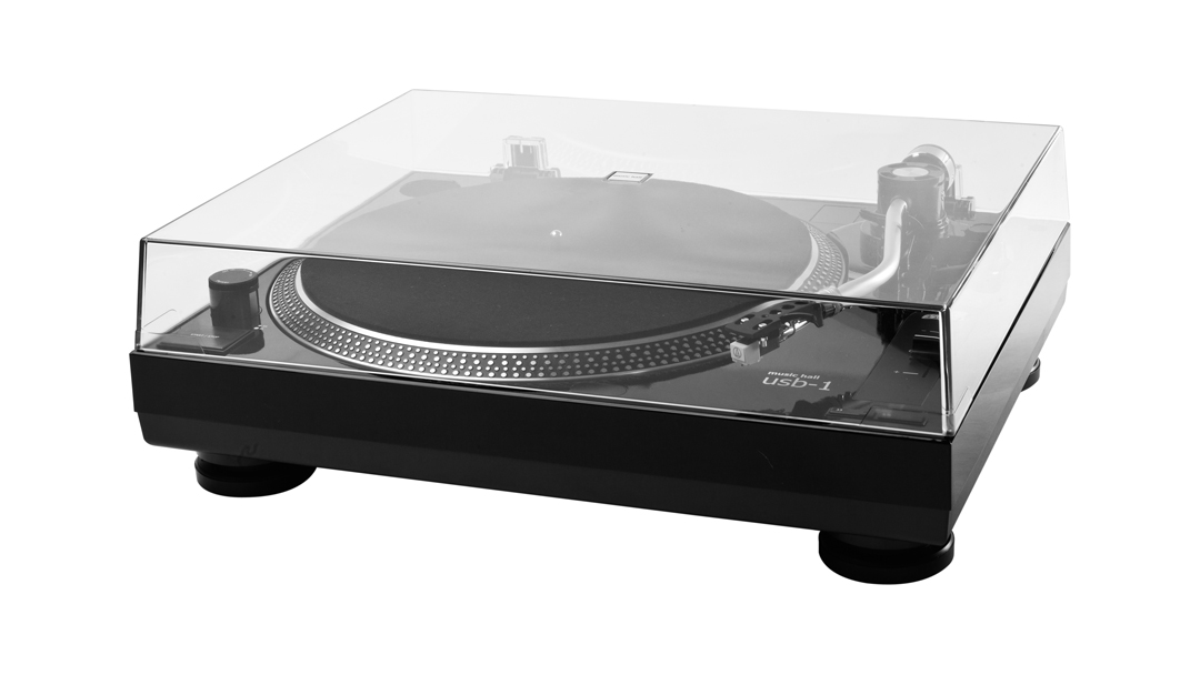 music hall usb-1 turntable with cartridge, phono preamp, and analog digital converter