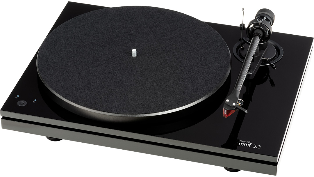 music hall mmf-2.3 turntable in piano black