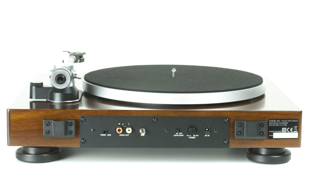 music hall classic turntable back