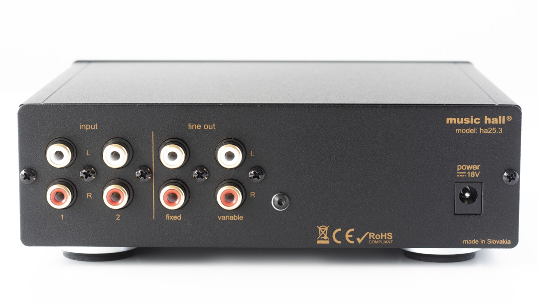 music hall ha23.3 headphone amplifier back