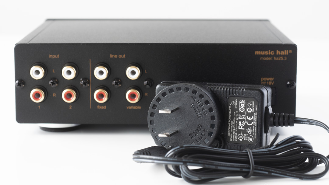 music hall ha23.3 headphone amplifier power source