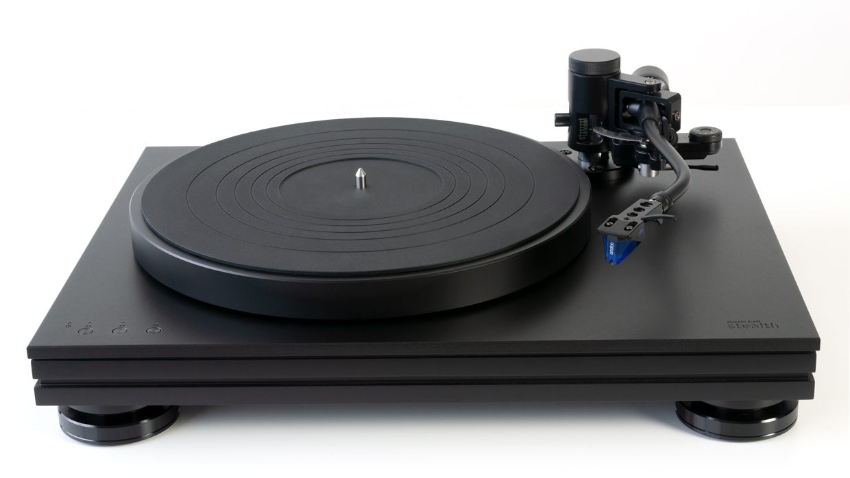 music hall stealth turntable top front view